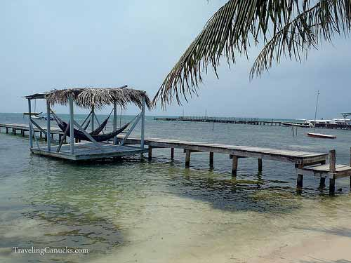 Dock Hammocks - Caye Caulker, Belize