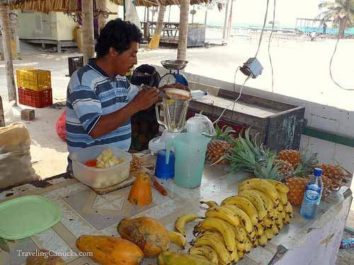 Fresh Fruit Stand - Caye Caulker, Belize