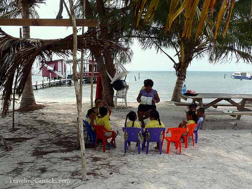 Class is in Session - Caye Caulker, Belize