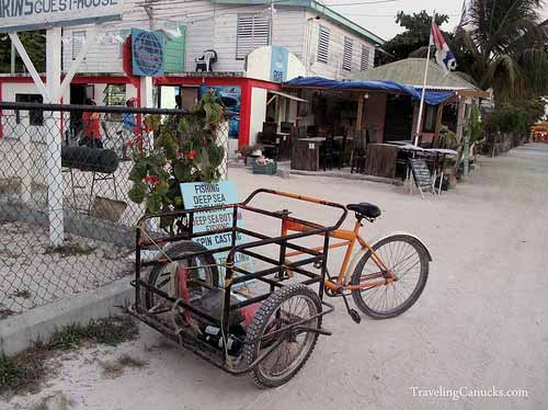Parking Lot on Caye Caulker, Belize