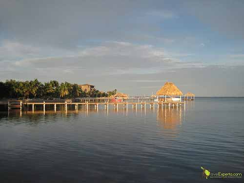 dock on ambergris caye in belize