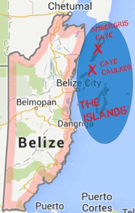 Belize Details maps - The Islands