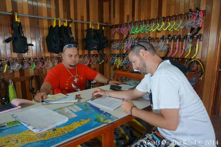 Signing My Life Away At Belize Pro Dive Center