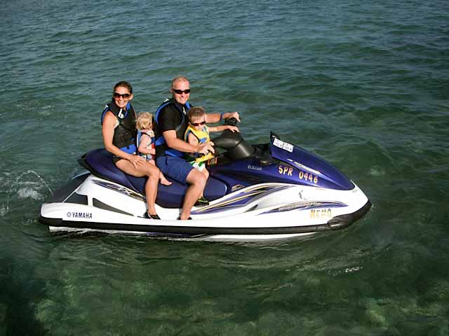 Jet Skiing near Ambergris Caye