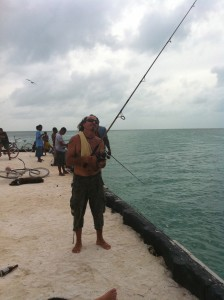 Carlos Ayala of Carlos Tours throwing his line!