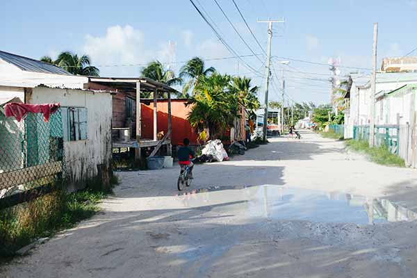 back street kidonbike Finding Paradise on Caye Caulker