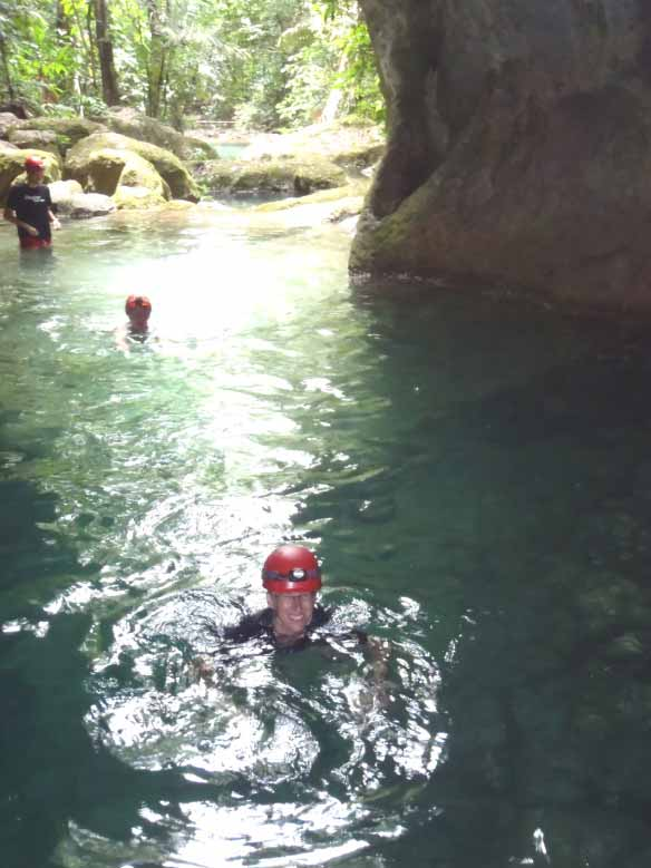 Swimming into ATM CAVE Belize Adventure