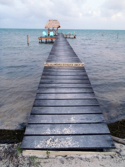 "Caye Caulker - private dock / ""beach"""
