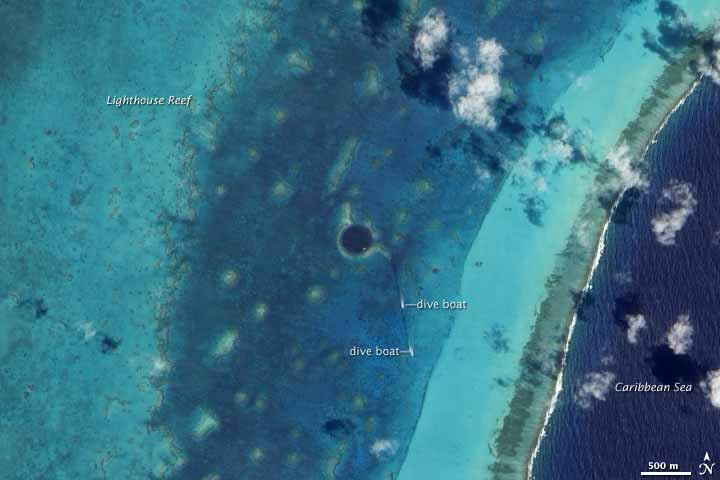 Click for large image of Lighthouse Reef Atoll