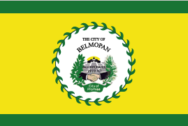 The Belmopan City flag.