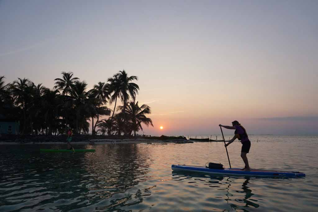 SUNSET AT CARRIE BOW CAYE