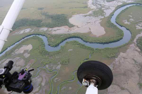 View from the plane during the Central American Megaflyover. Photo ©WCS.