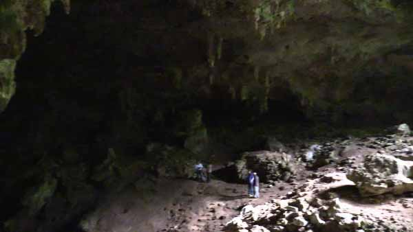 """Tiny"" cavern in Belize's Chiquibul Forest Reserve, at the heart of the Maya Mountains. Photo ©WCS."