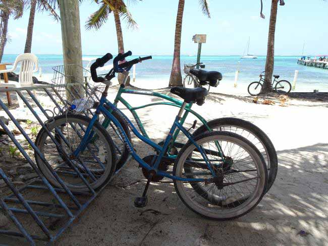 The best way to get around on Ambergris Caye.