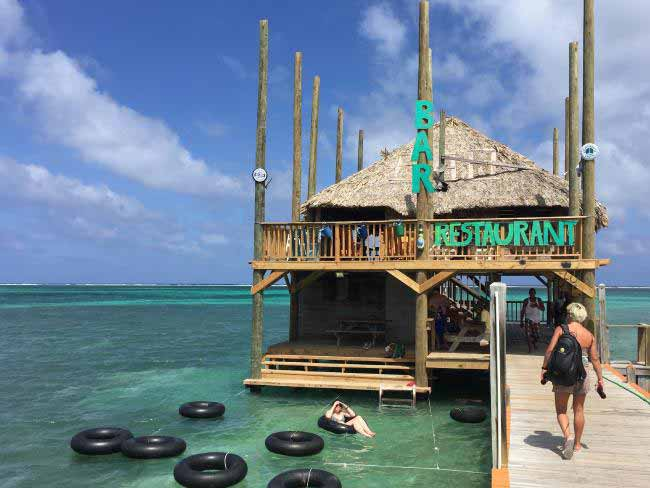 Anyone for a drink? You can't beat the location of this bar and restaurant on Ambergris Caye, the largest of Belize's Caribbean islands.