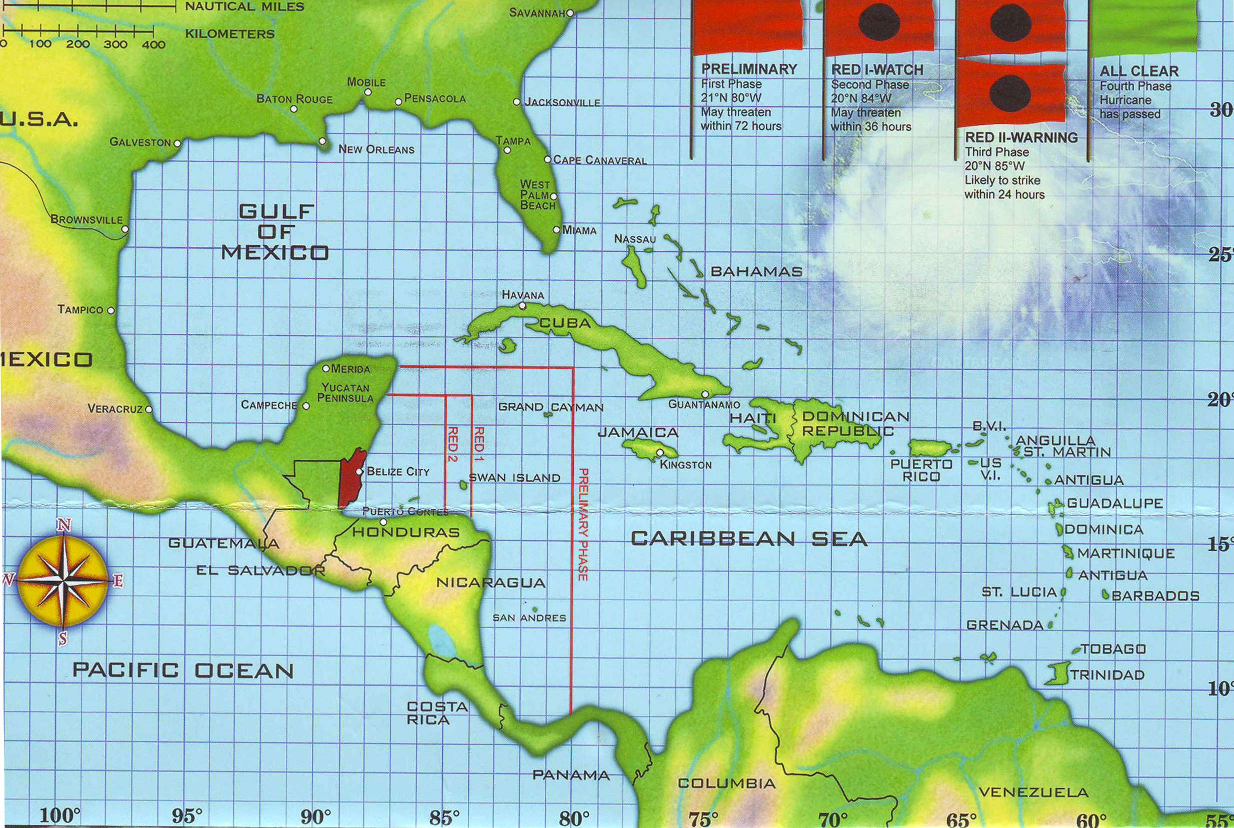 belize location on world map