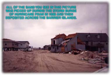 Topsail Island storm surge damage photo