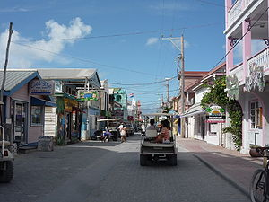 English: Downtown San Pedro, Belize