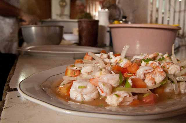 shrimp ceviche victor's inn belize
