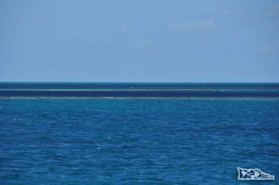 Blue Hole, na grande barreira de corais, em Belize