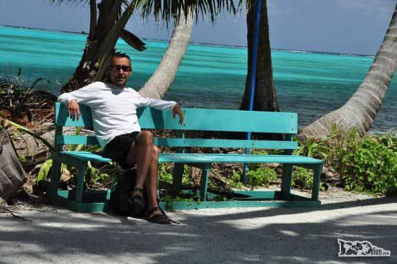 Momento de descanso em Half Moon Caye, perto do Blue Hole, na grande barreira de corais, em Belize