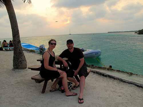 Sunset at the Split - Caye Caulker, Belize