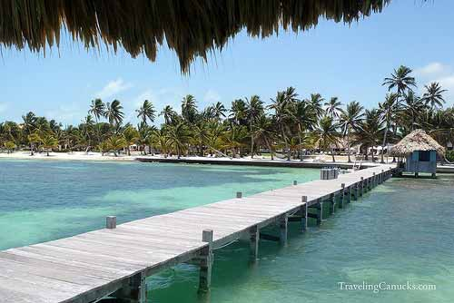 Dock at Victoria House, Ambergris Caye, Belize