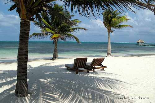 Beach at Victoria House, Belize