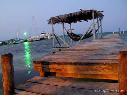 Sunset on the Dock - Caye Caulker Belize