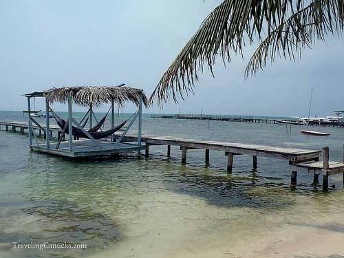 Dock Hammocks - Caye Caulker, Belize