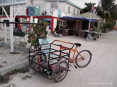 Parking Lot on Caye Caulker, Belize