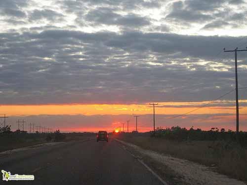 sunset, Belize