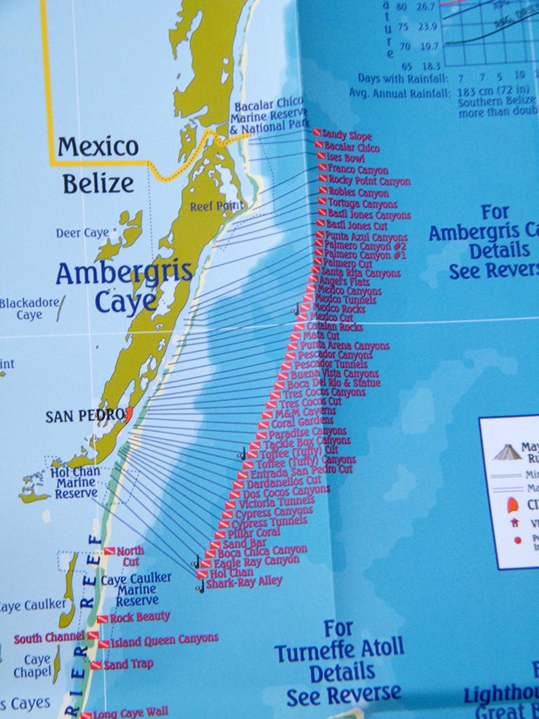 Belize Tourism Board Launches Belize Dive Map Ambergris Caye - Belize tourist map