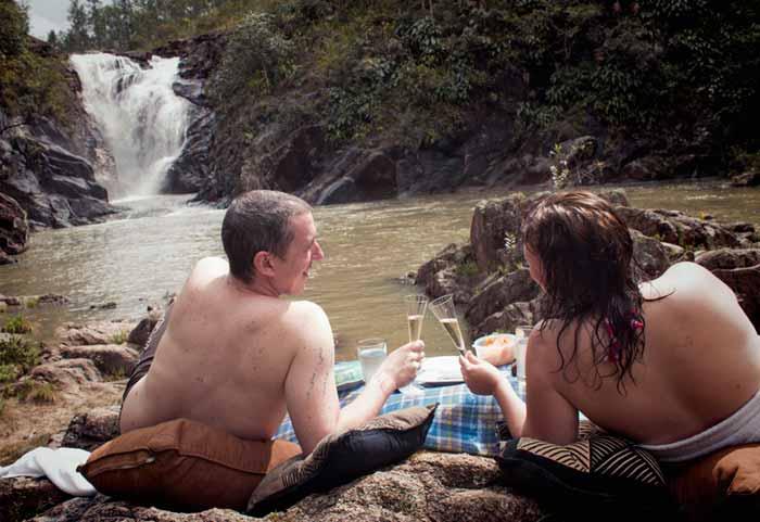 Picnic at Big Rock Falls, Belize
