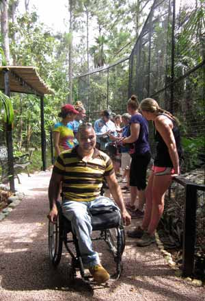 Jerome Flores visits zoo with SUNY Cortland students