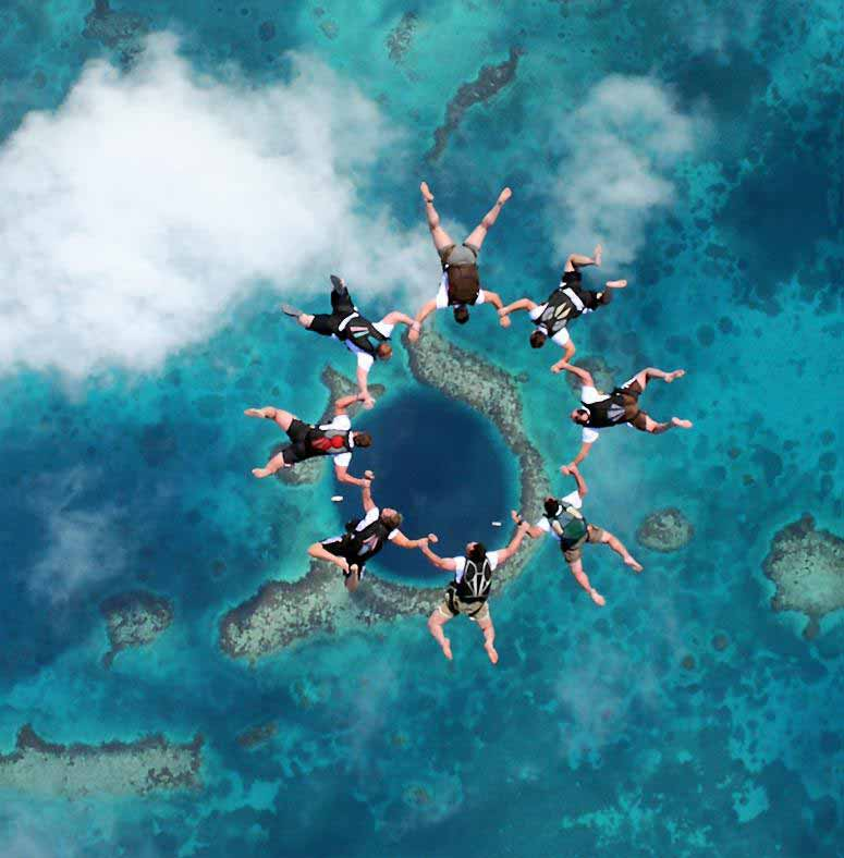 The Great Blue Hole, Ambergris Caye, Belize, Diving in the ...