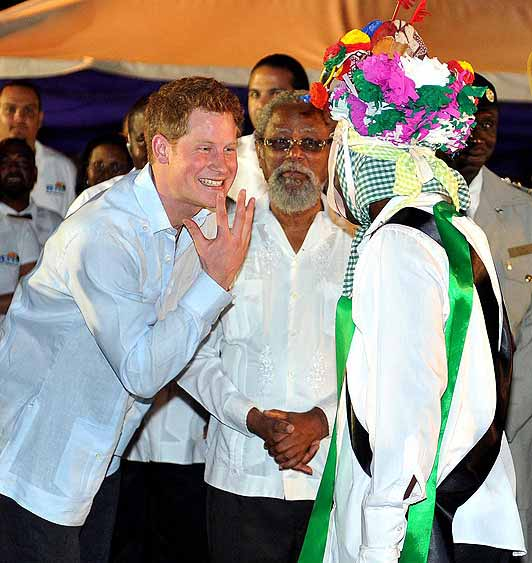 Prince Harry gets in the spirit