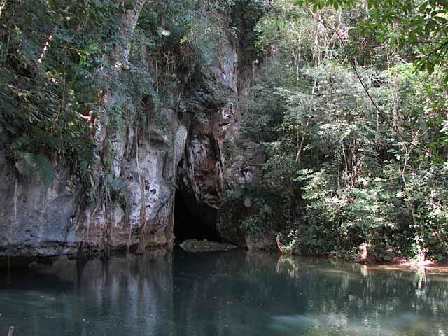 Entering Barton Creek Cave