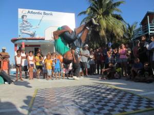 Some breakdance acrobatics