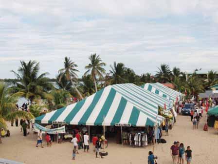 Lobsterfest Tent Chabil Mar Belize Resort