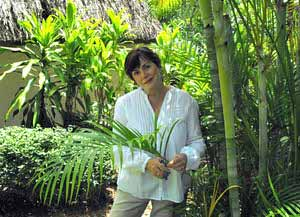 Lucy Fleming with bamboo