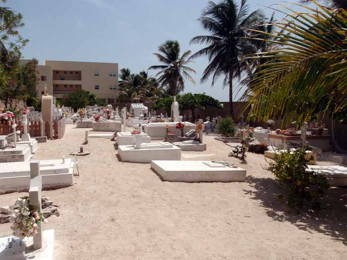 Seaside Cemetery on Ambergris Caye