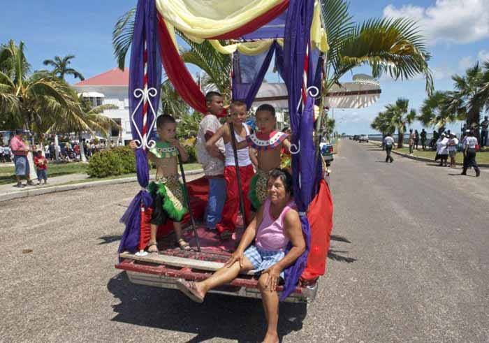St Georges Caye parade