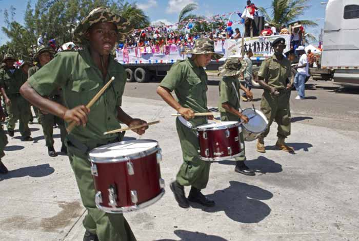 St George's Caye Day parade