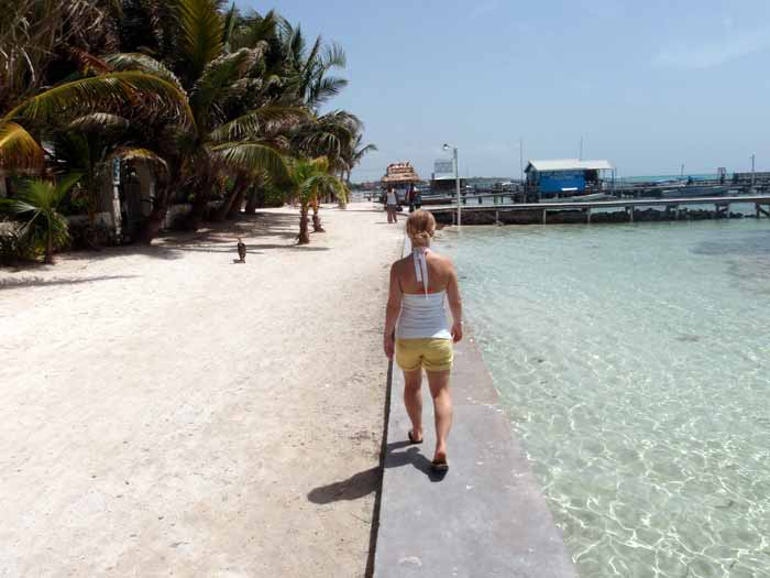 Walking around in San Pedro, Belize