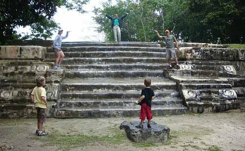 Stairs at Cahal Pech