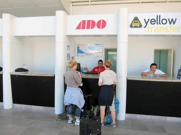 ADO Ticket Stand at Cancun Airport