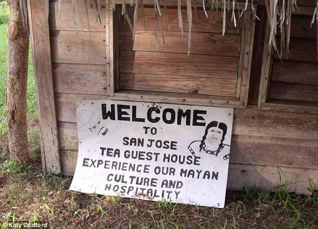 San Jose guesthouse sign
