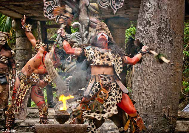 A traditional Mayan dance