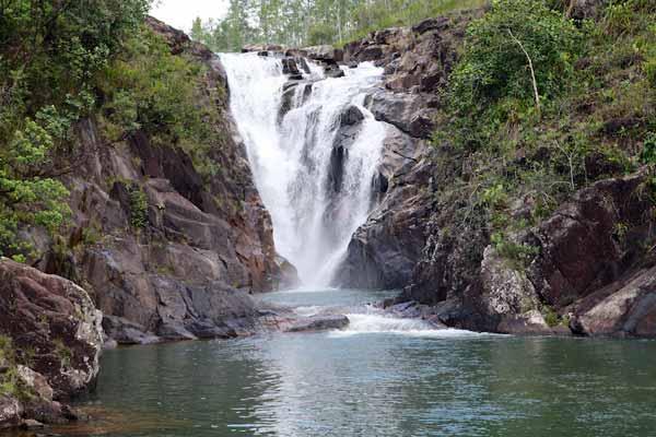 big rock falls belize photo